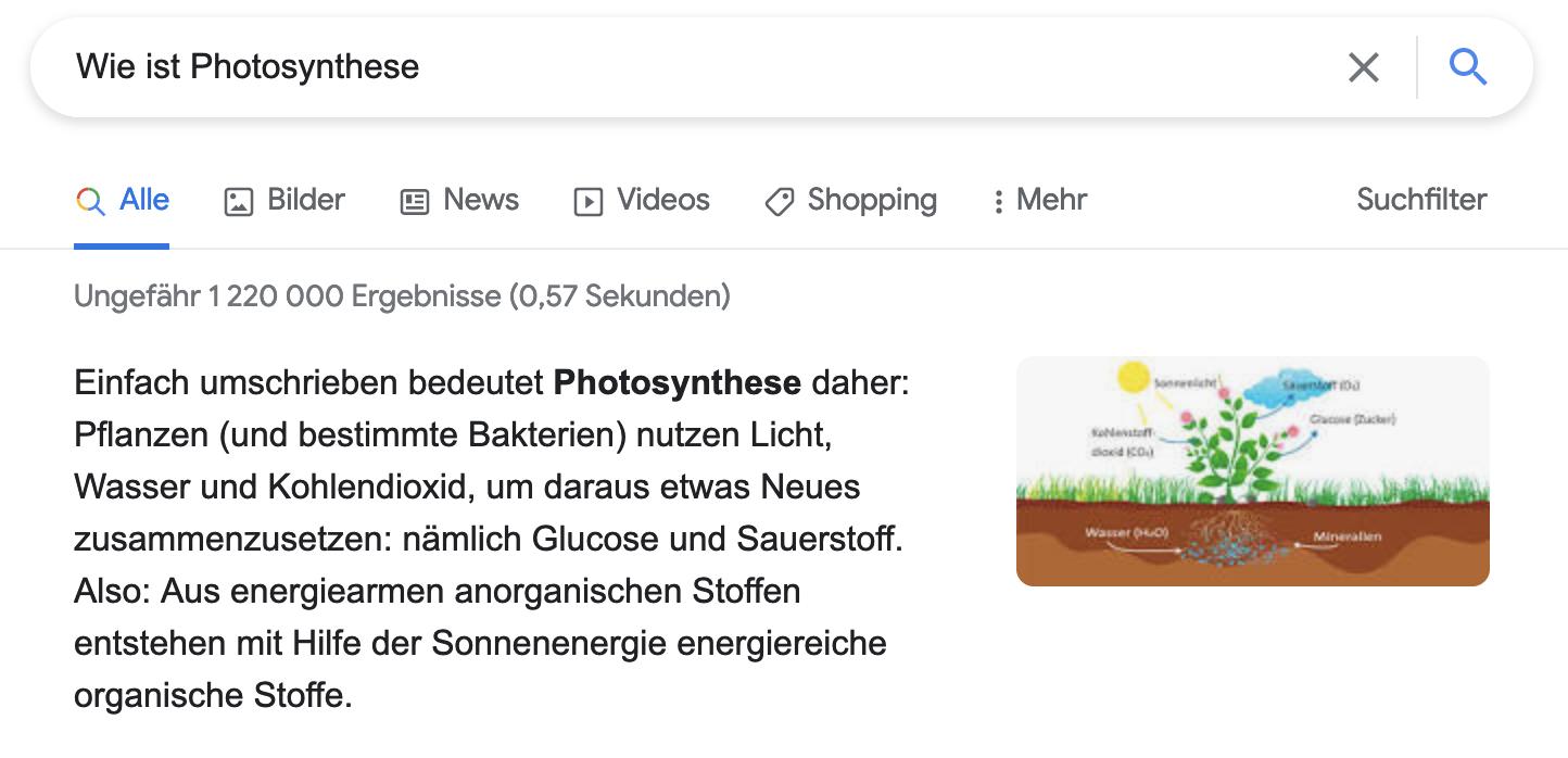 SERP-Photosynthese